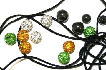 DIY Pave Crystal Bracelet Kit - Green-White-Gold - SC